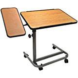 Betttisch / Beistell-Tisch mit Seitenplatte