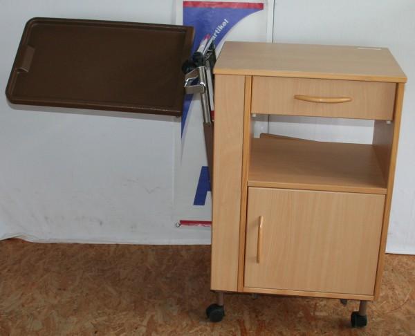 Beistelltisch / Nachtschrank mit winkel- und höhenverstellbaren Seitentisch