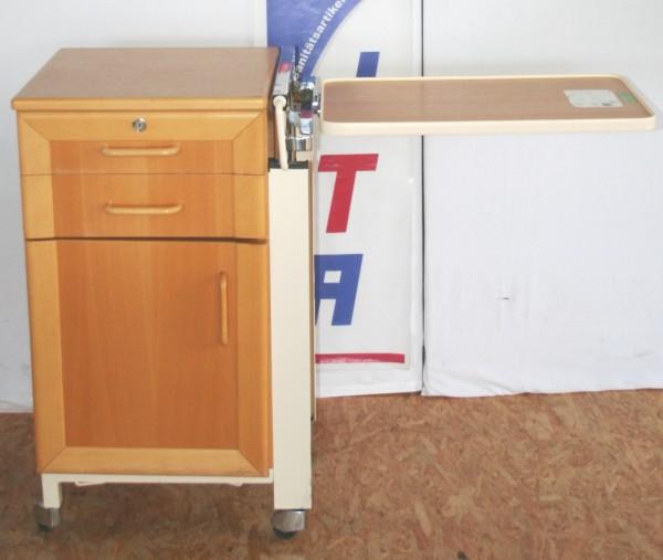 Beistelltisch / Nachttisch mit ausklappbarem Seitentisch