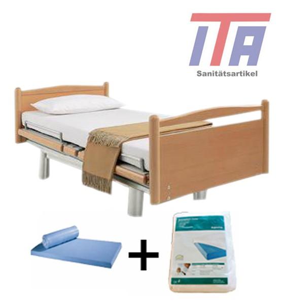 Pflegebett Seniorenbett Völker 3082 mit Inkontinenzlacken + Matratze