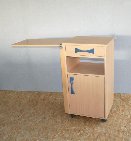 stiegelmeyer nachtschrank mit ausklappbarem seitentisch. Black Bedroom Furniture Sets. Home Design Ideas