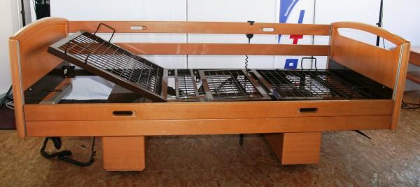 Pflegebett / Seniorenbett (2 Fach elektrisch verstellbar) 90 x 200 cm