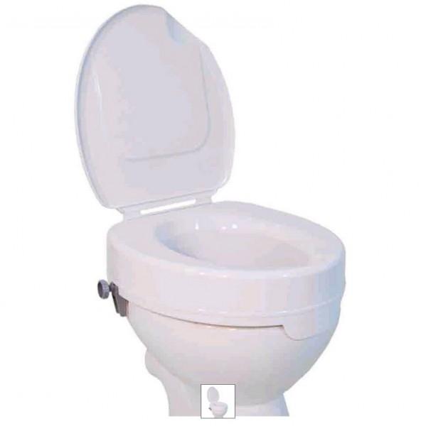 Toilettenaufsatz/-sitzerhöhung, CLEAN, mit Deckel, 15 cm hoch
