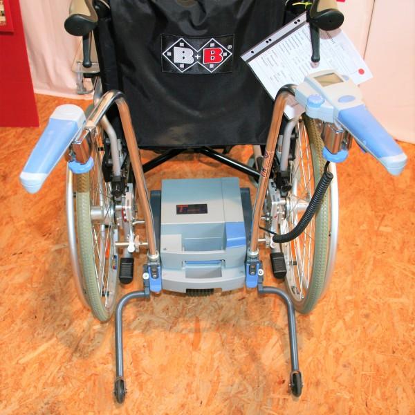 Alber Viamobil Schiebe- & Bremshilfe / Faltrollstuhl SB 43 cm / Therapietisch