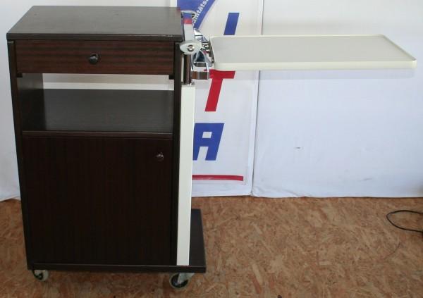 Nachttisch / Nachtschrank mit winkel- höhenverstellbaren Seitentisch